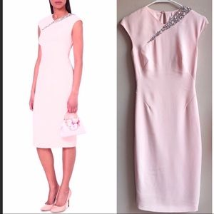 Ted Baker Floray Midi Dress. Light pink